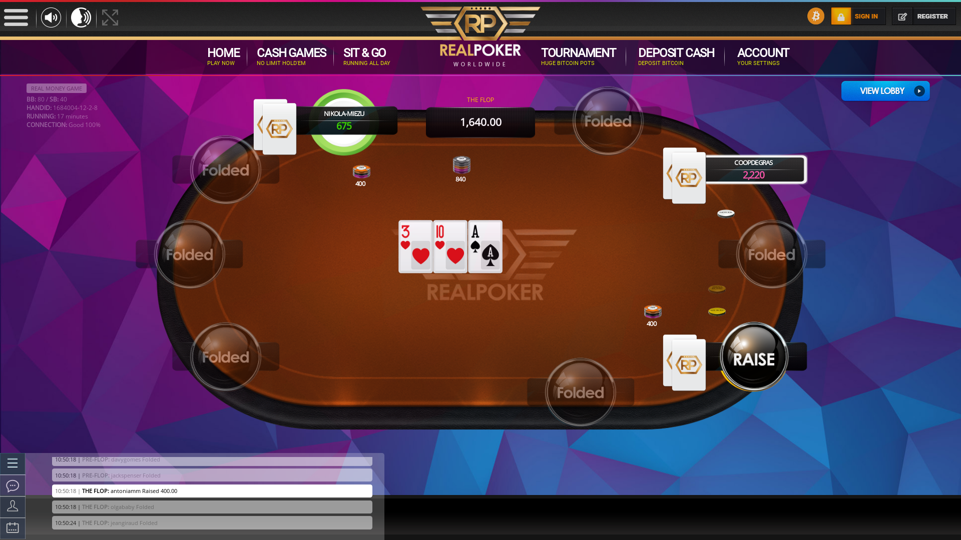 10 player poker in the 17th minute