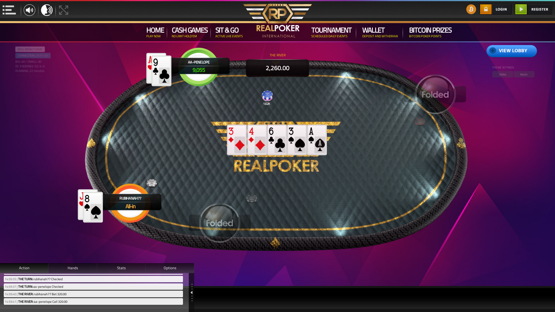 10 player poker in the 22nd minute