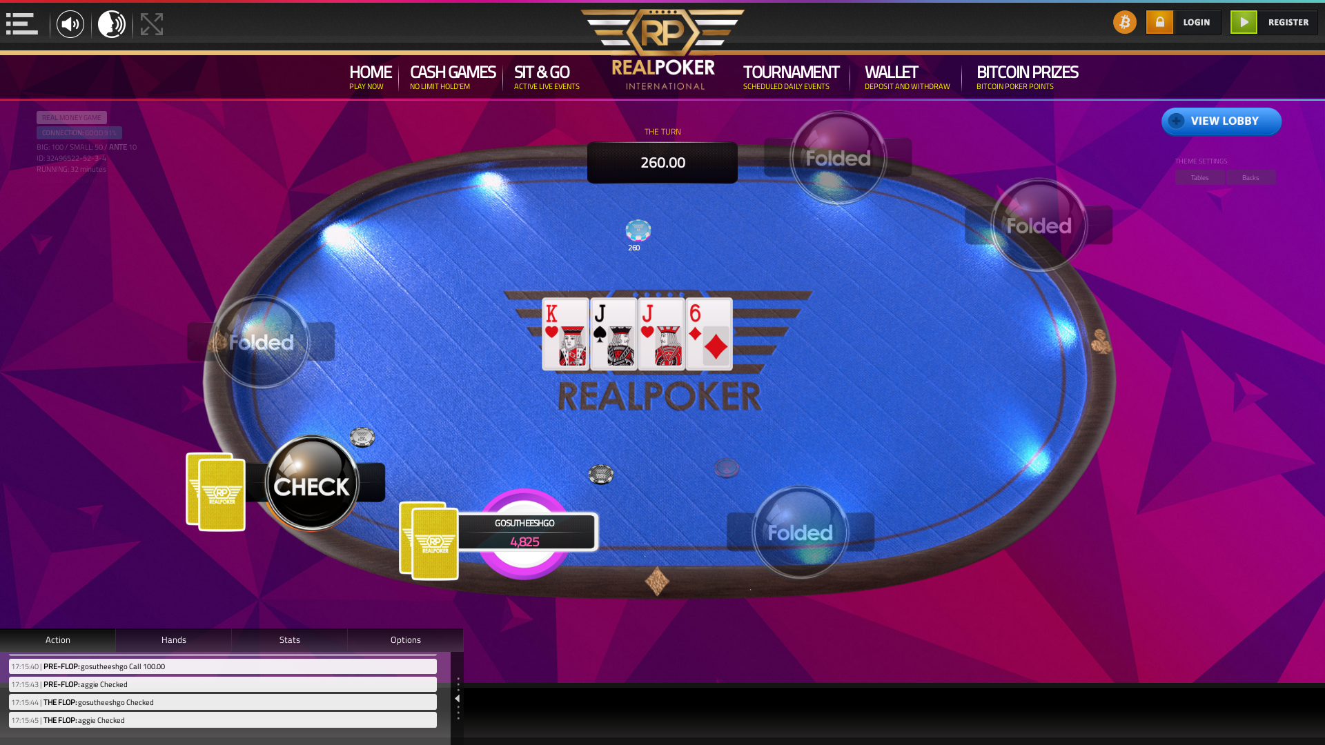 10 player poker in the 32nd minute