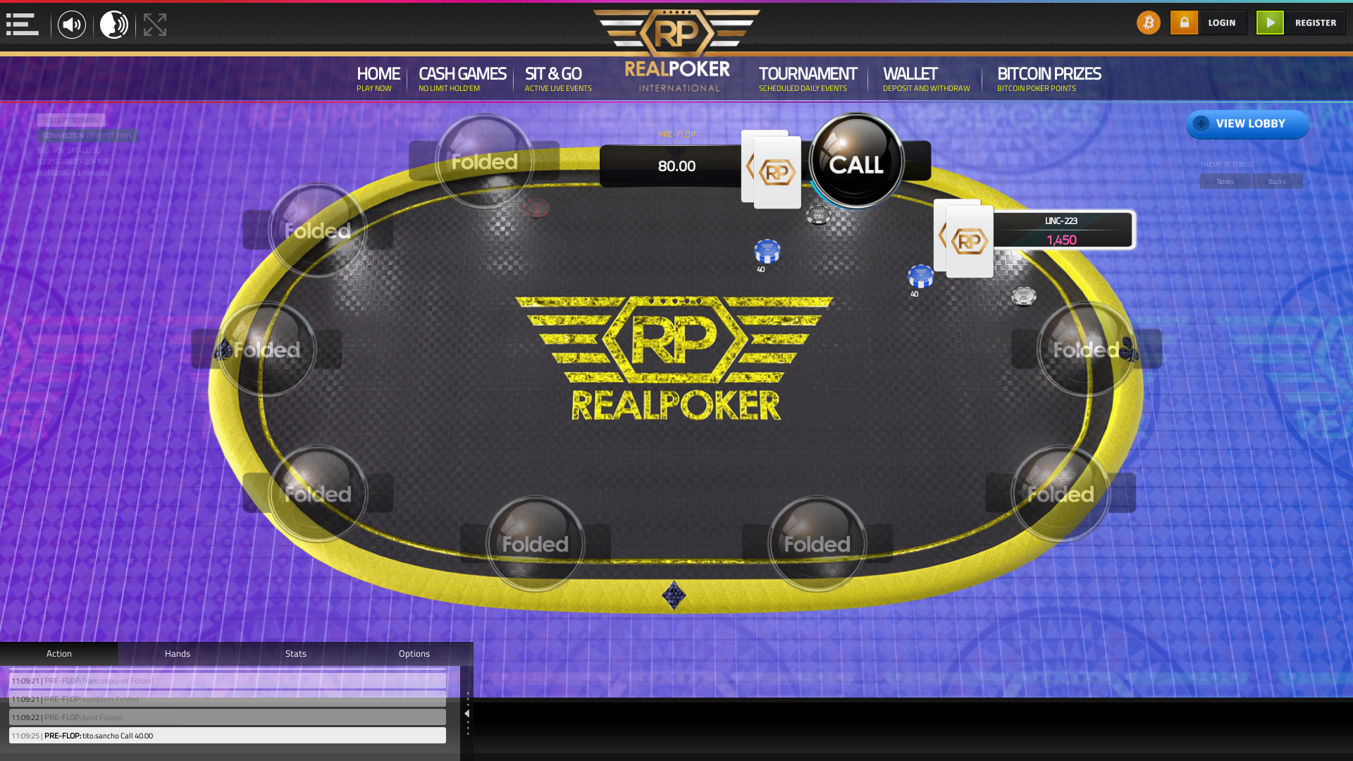 10 player texas holdem table at real poker with the table id 25485830