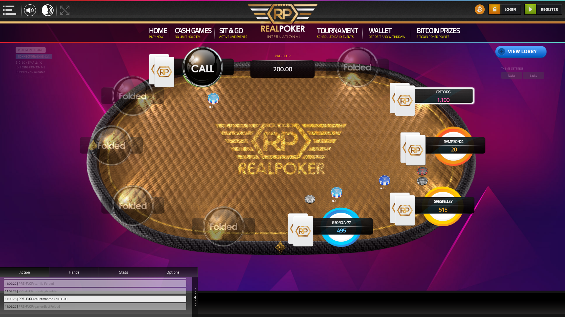 10 player texas holdem table at real poker with the table id 25593293