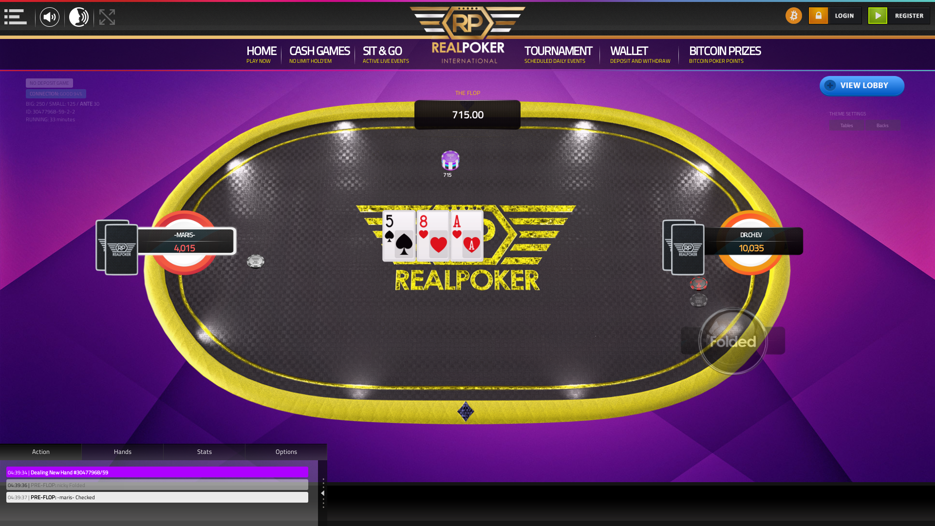 10 player texas holdem table at real poker with the table id 30477968