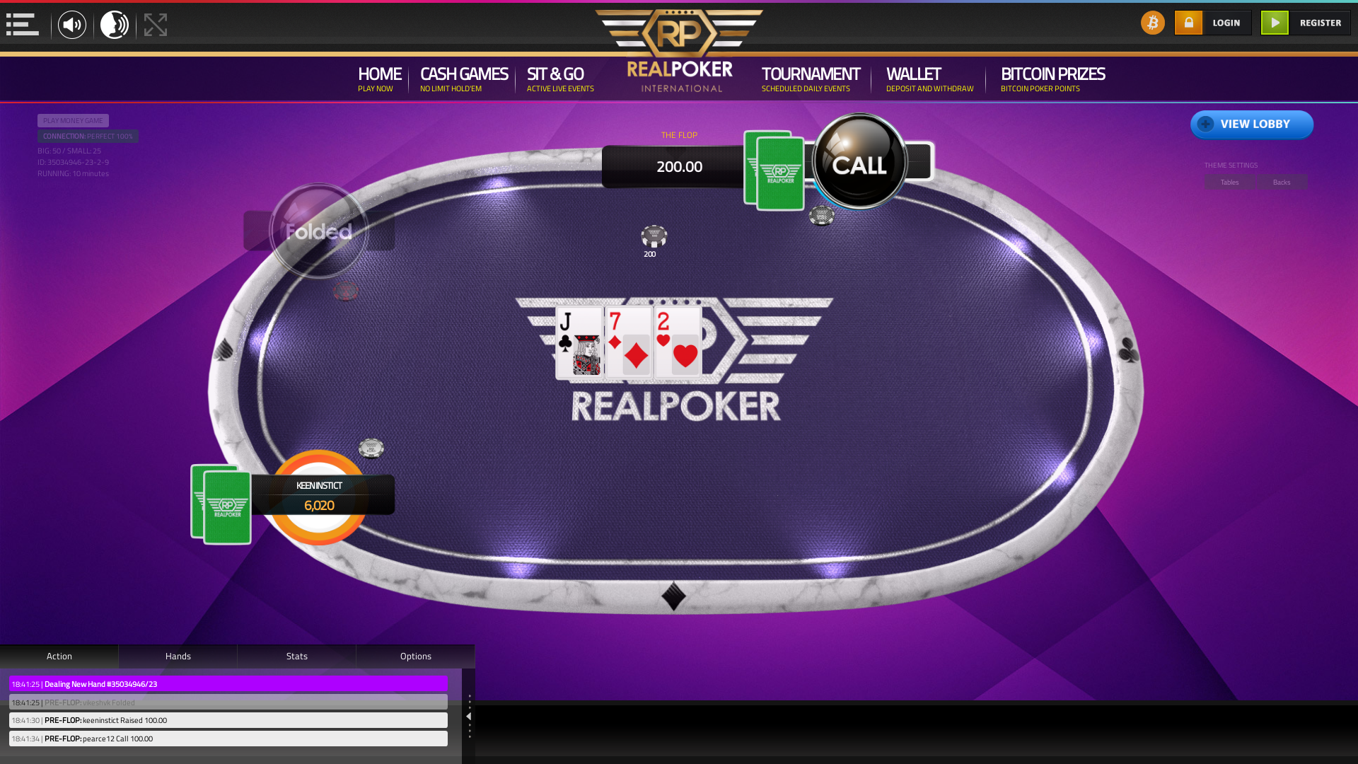 10 player texas holdem table at real poker with the table id 35034946