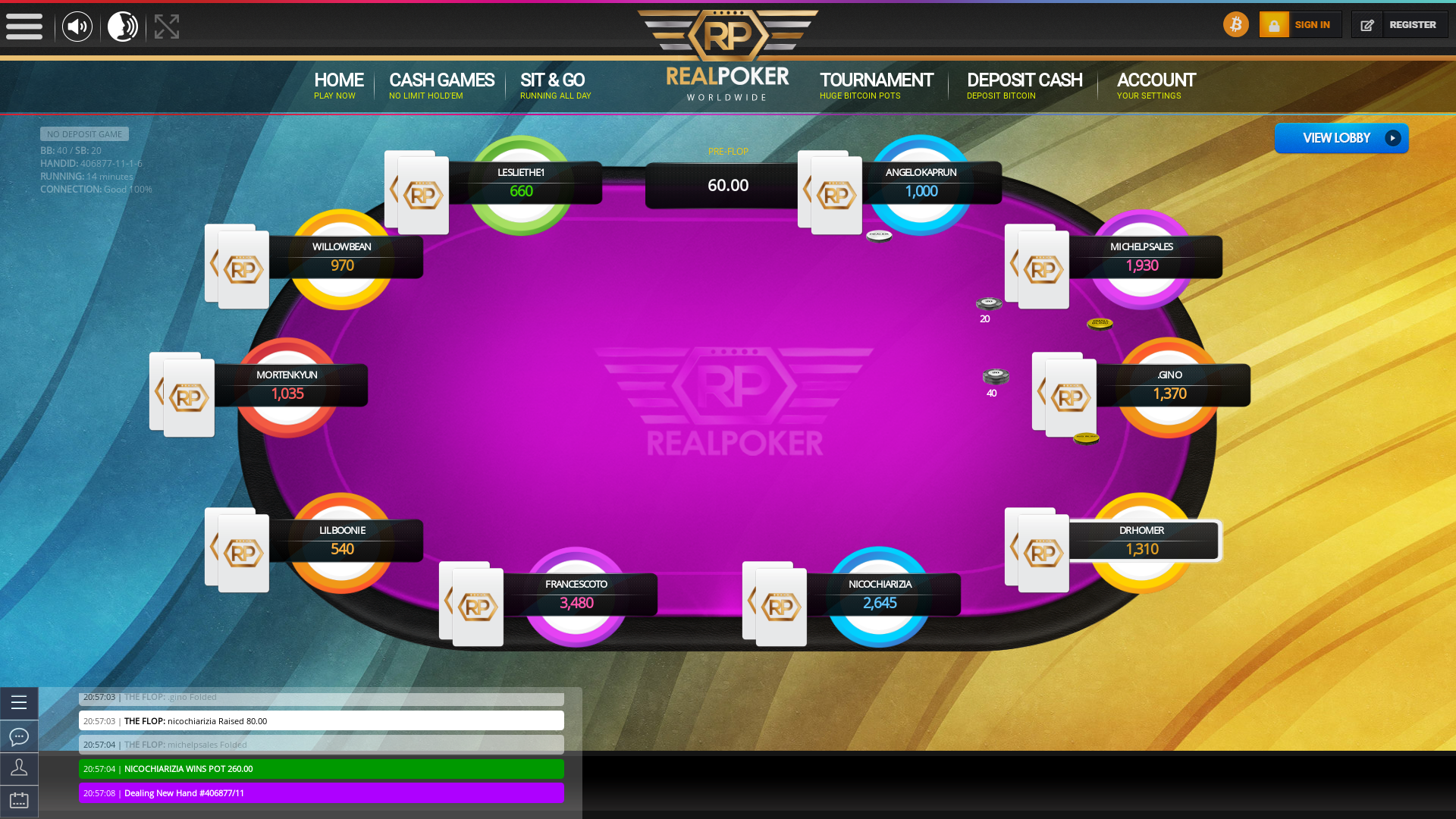 Valencia BTC Poker 10 Player