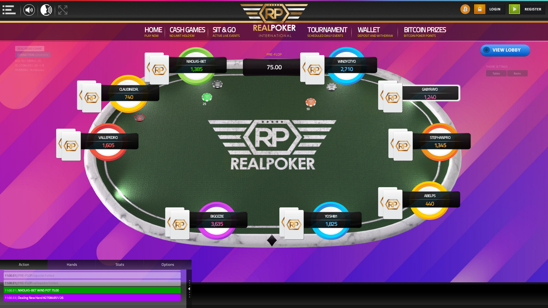 Lithuania texas holdem poker table on a 10 player table in the 15th minute of the match