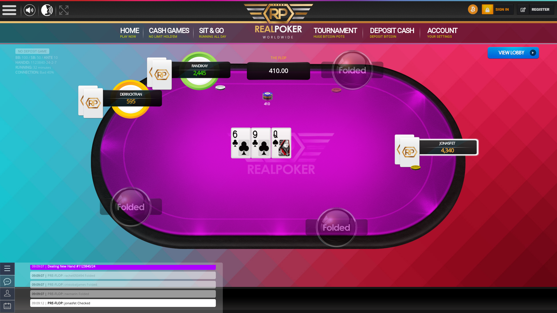 Malta 10 player poker in the 32nd minute