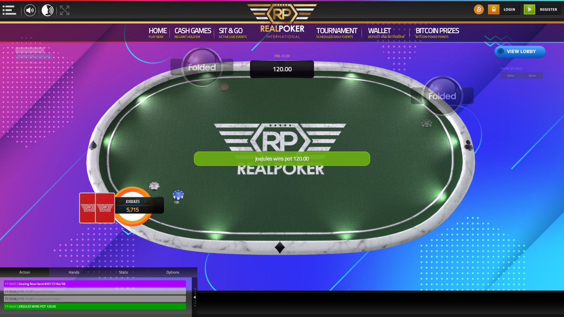 Netherlands online poker game on a 10 player table in the 29th minute of the match