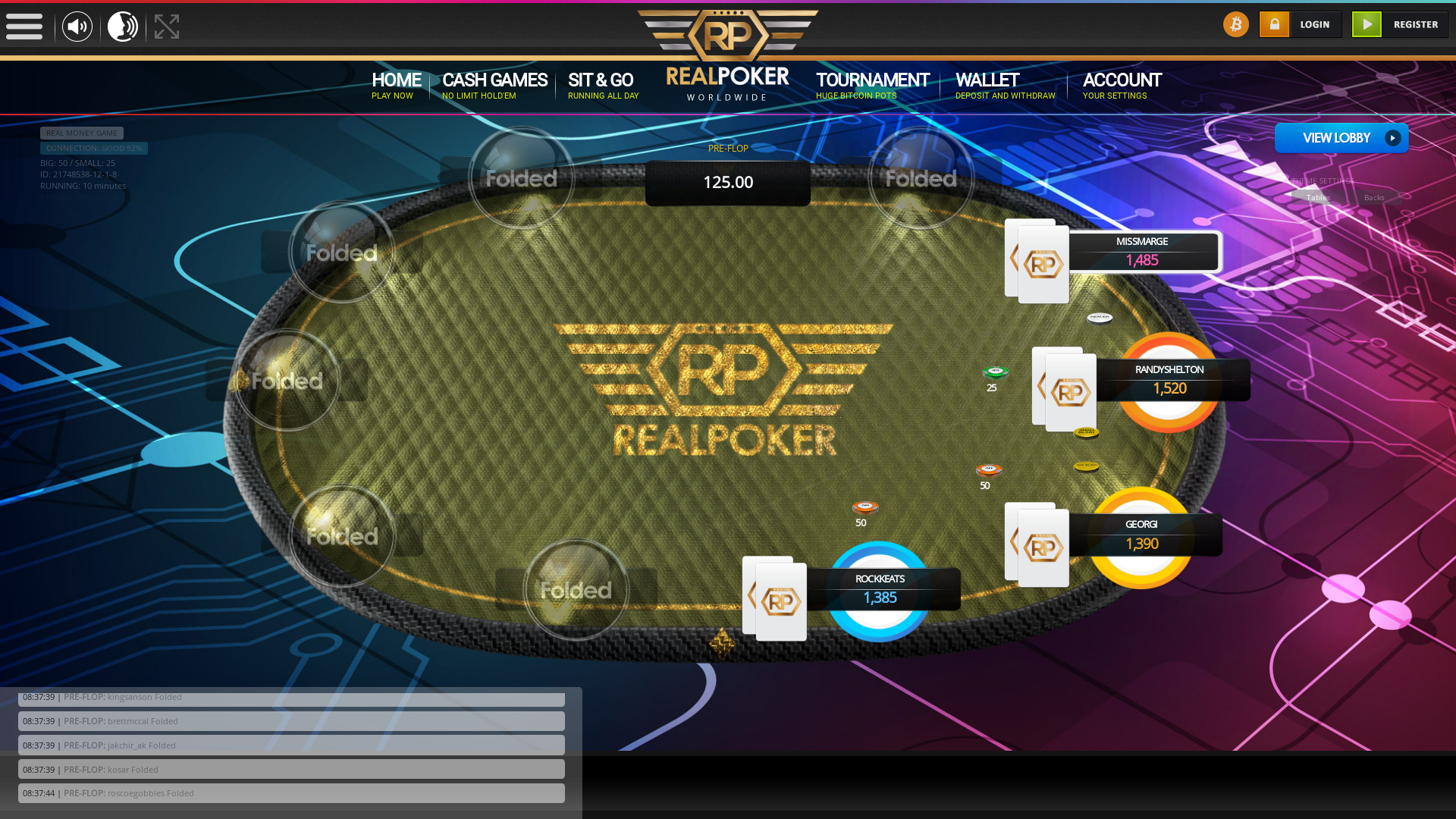 Colombia BTC Poker from August