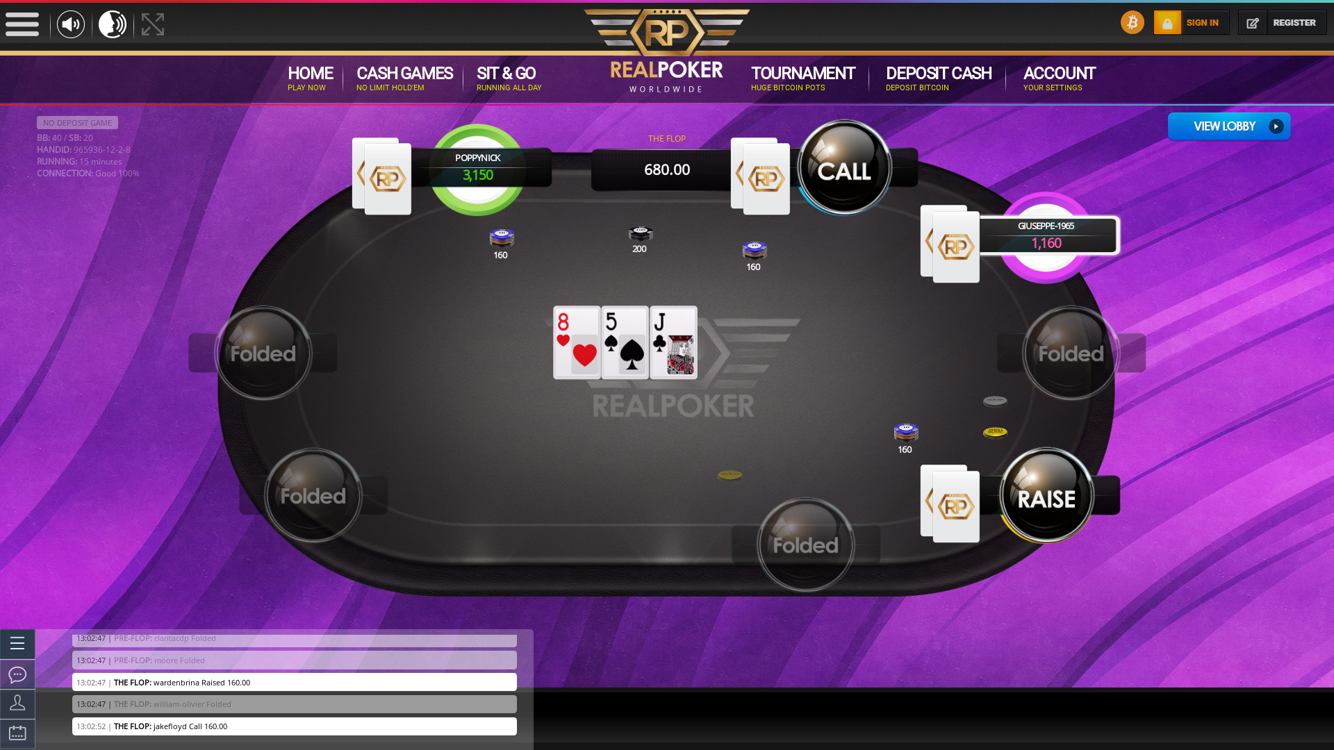 online poker on a 10 player table in the 15th minute match up