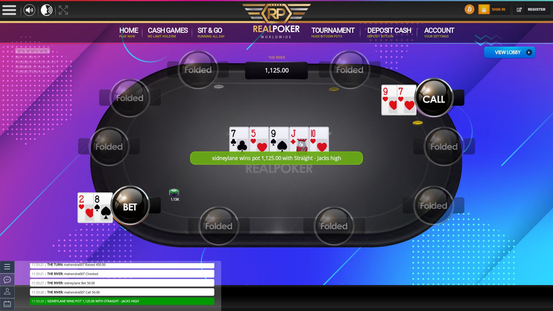 online poker on a 10 player table in the 19th minute match up
