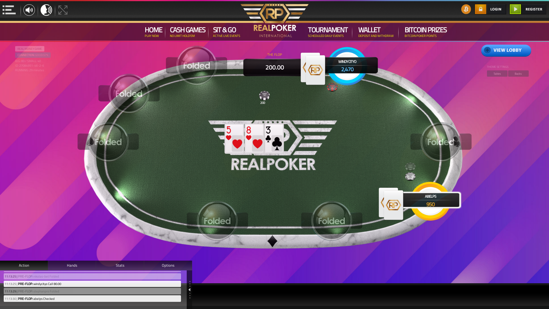 Online poker on a 10 player table in the 28th minute match up