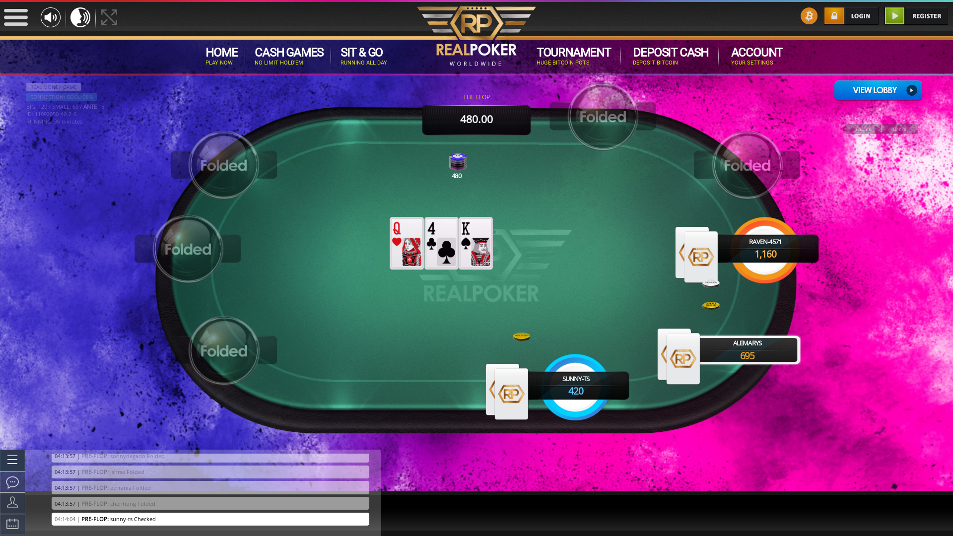 online poker on a 10 player table in the 36th minute match up