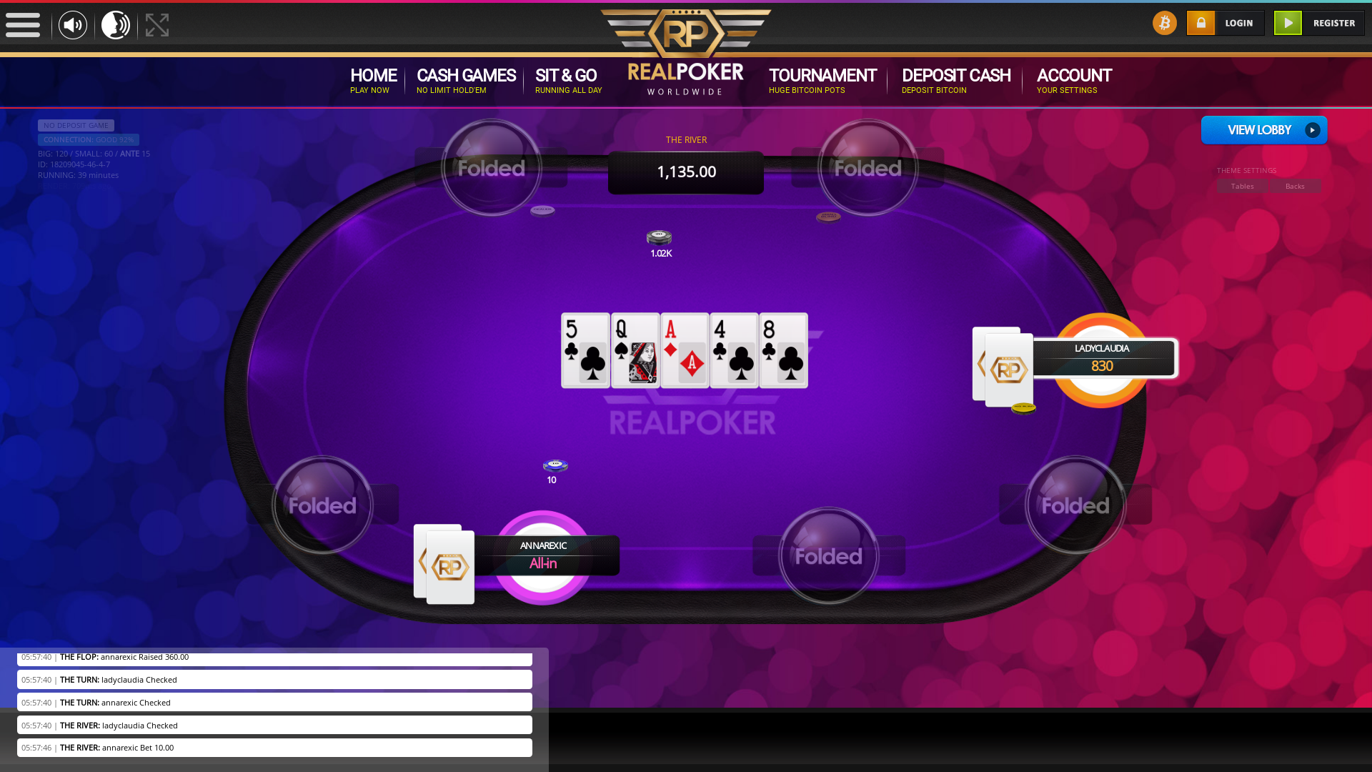 online poker on a 10 player table in the 39th minute match up