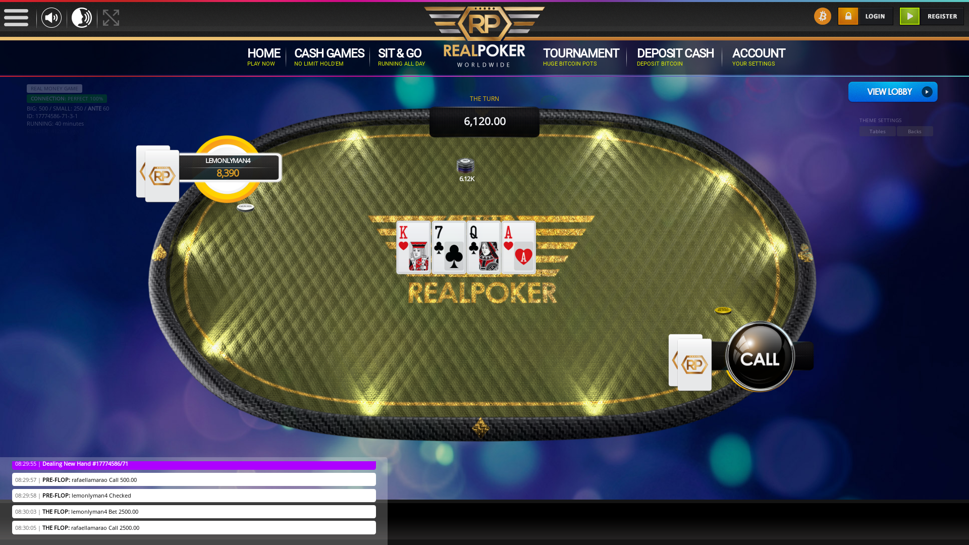 online poker on a 10 player table in the 40th minute match up