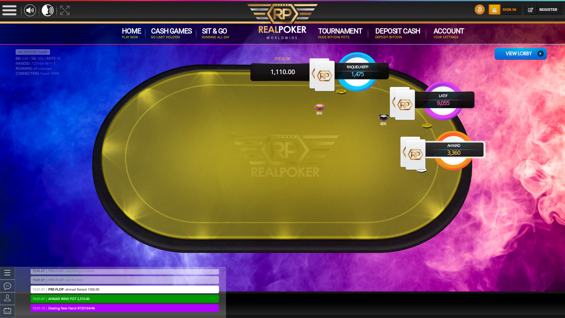 online poker on a 10 player table in the 44th minute match up