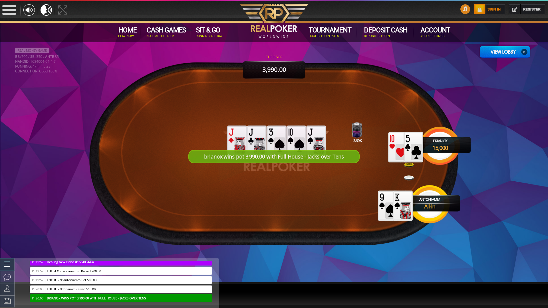 online poker on a 10 player table in the 47th minute match up