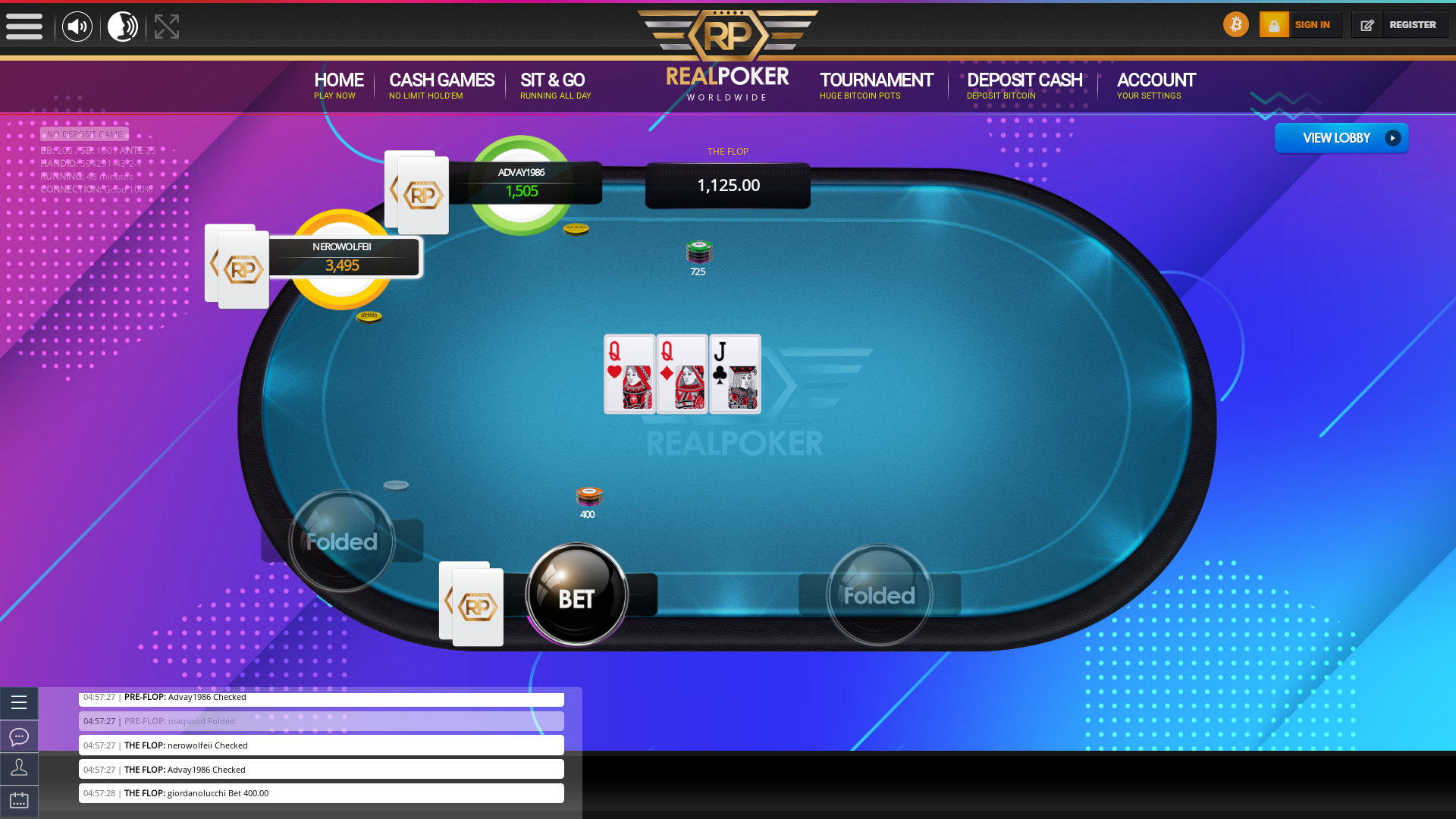 online poker on a 10 player table in the 48th minute match up