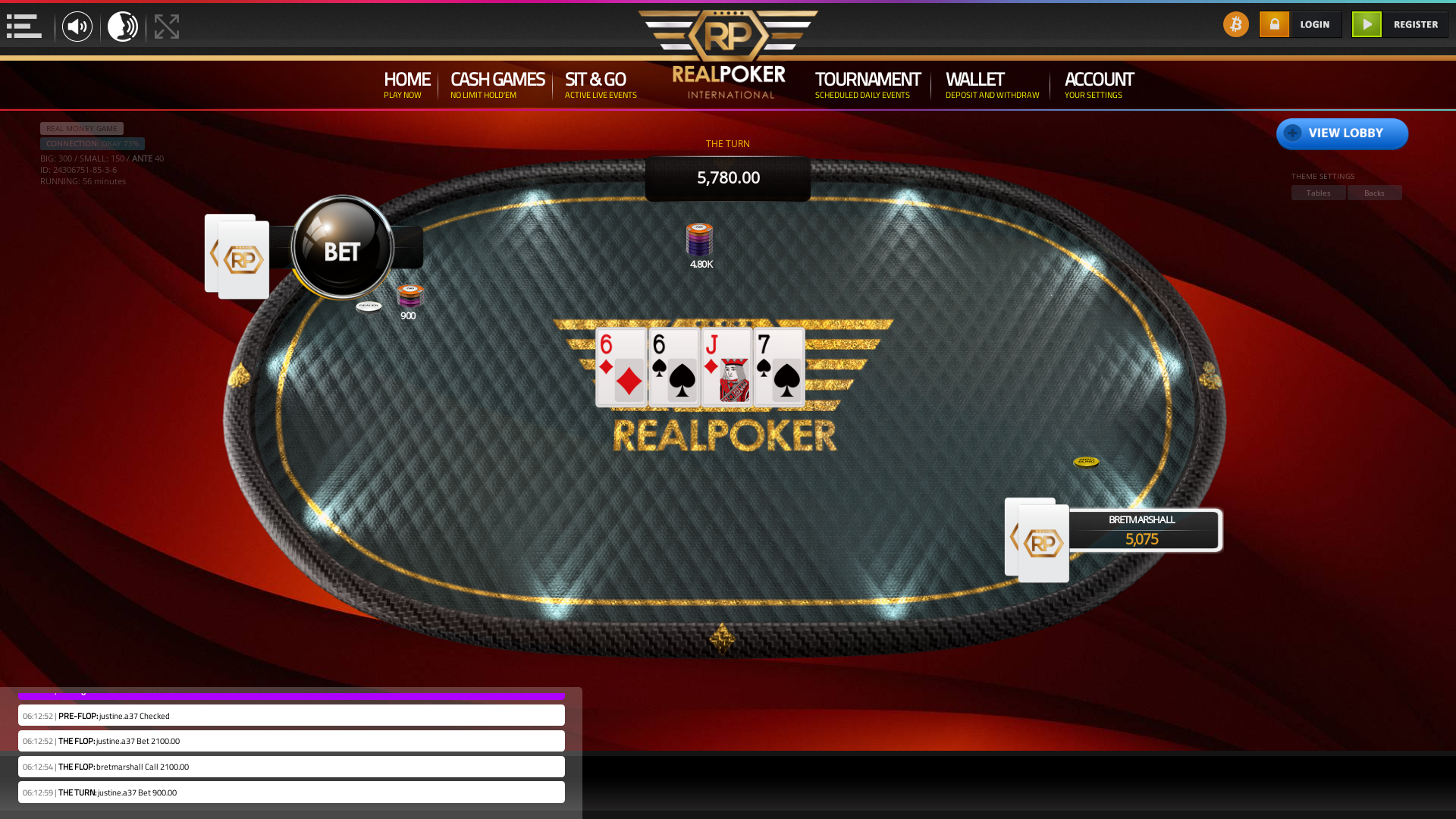 online poker on a 10 player table in the 56th minute match up