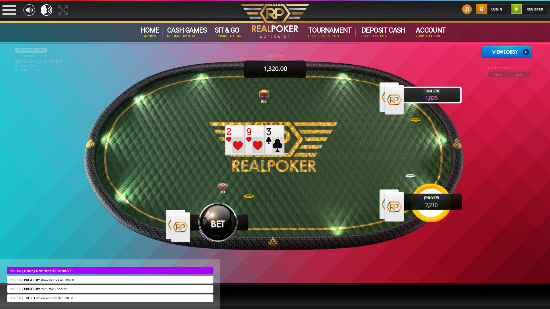 Online poker on a 10 player table in the 59th minute match up