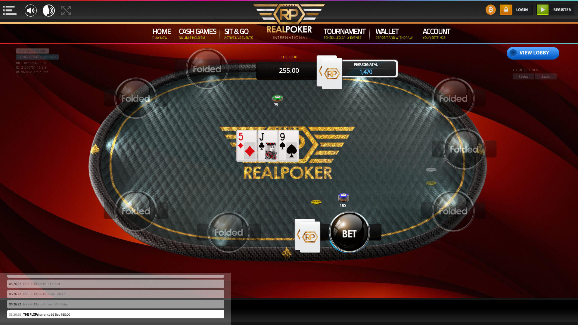 online poker on a 10 player table in the 9th minute match up