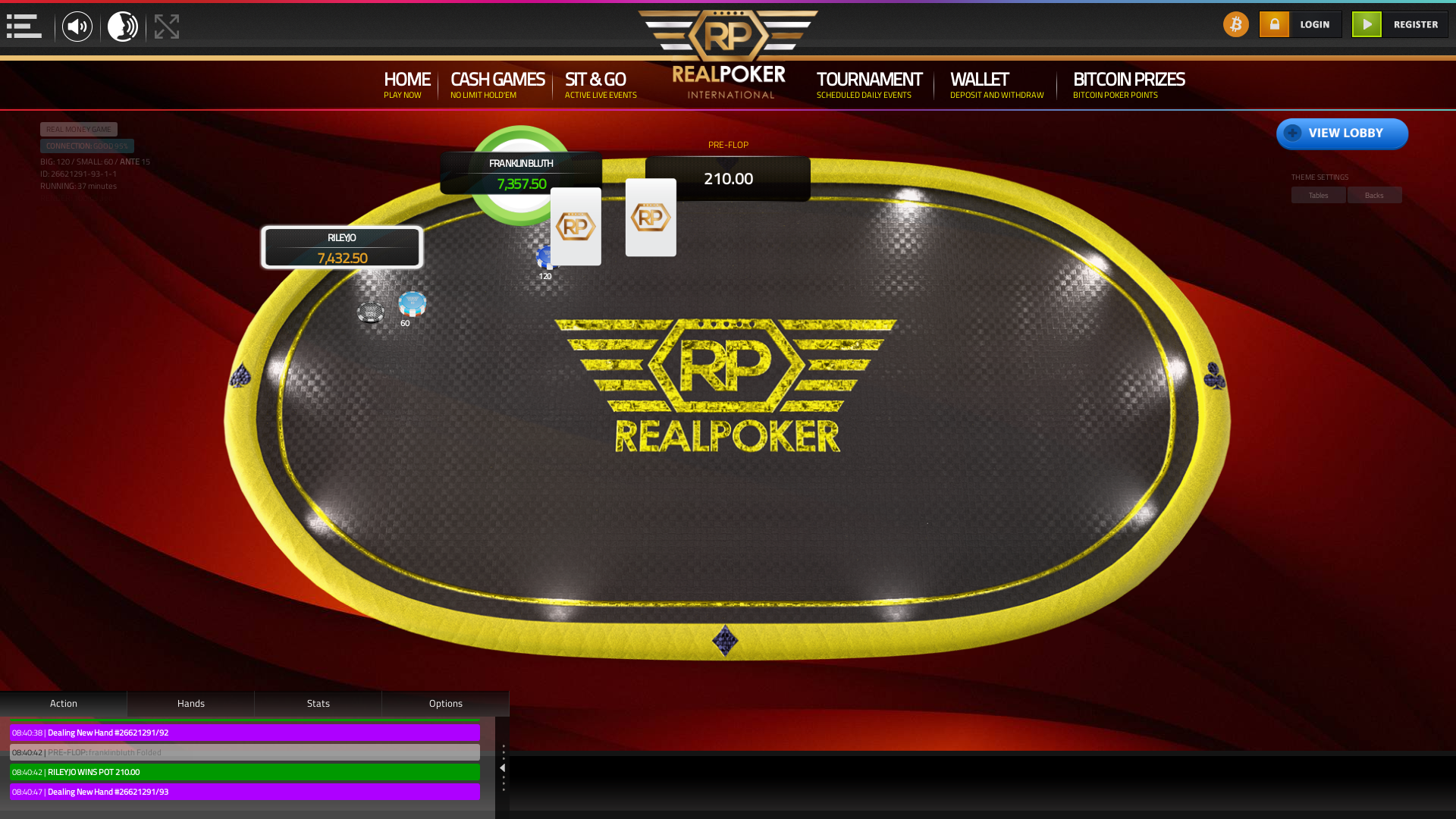 Portugal online poker game on a 10 player table in the 37th minute of the game