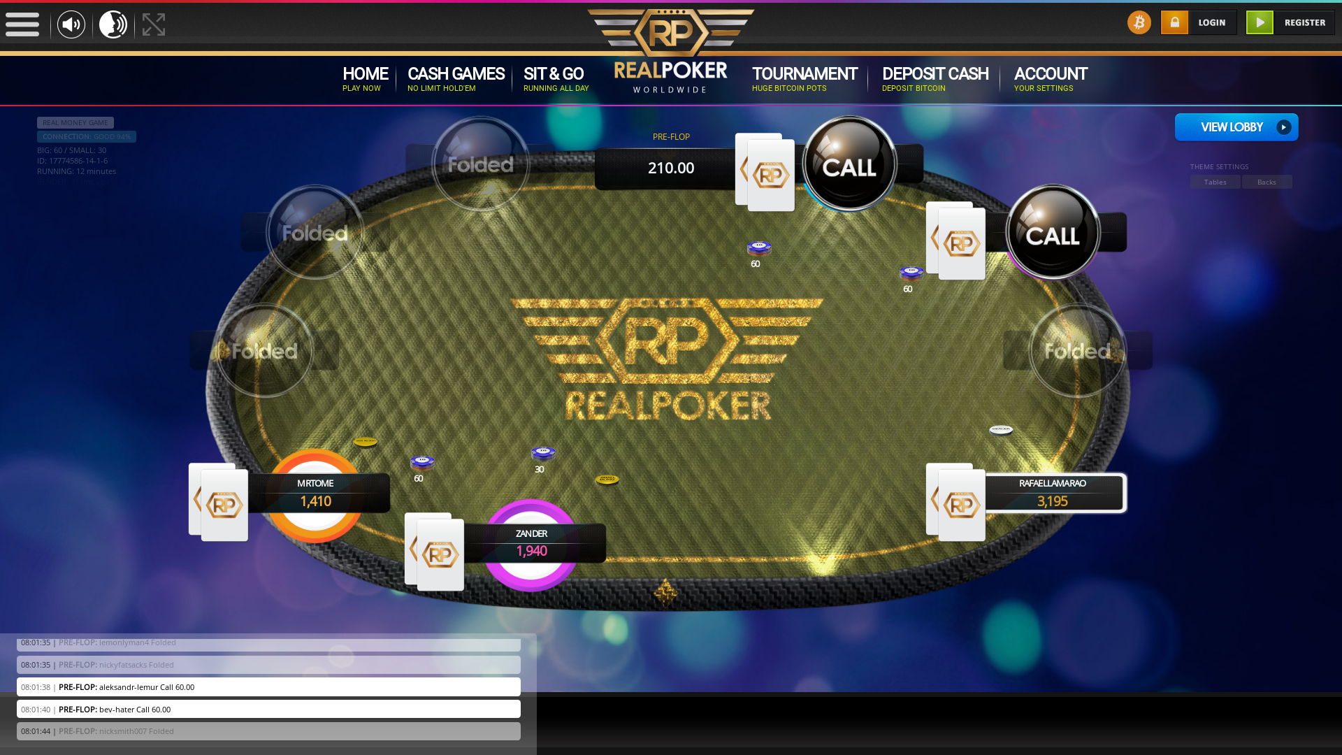Real poker 10 player table in the 12th minute