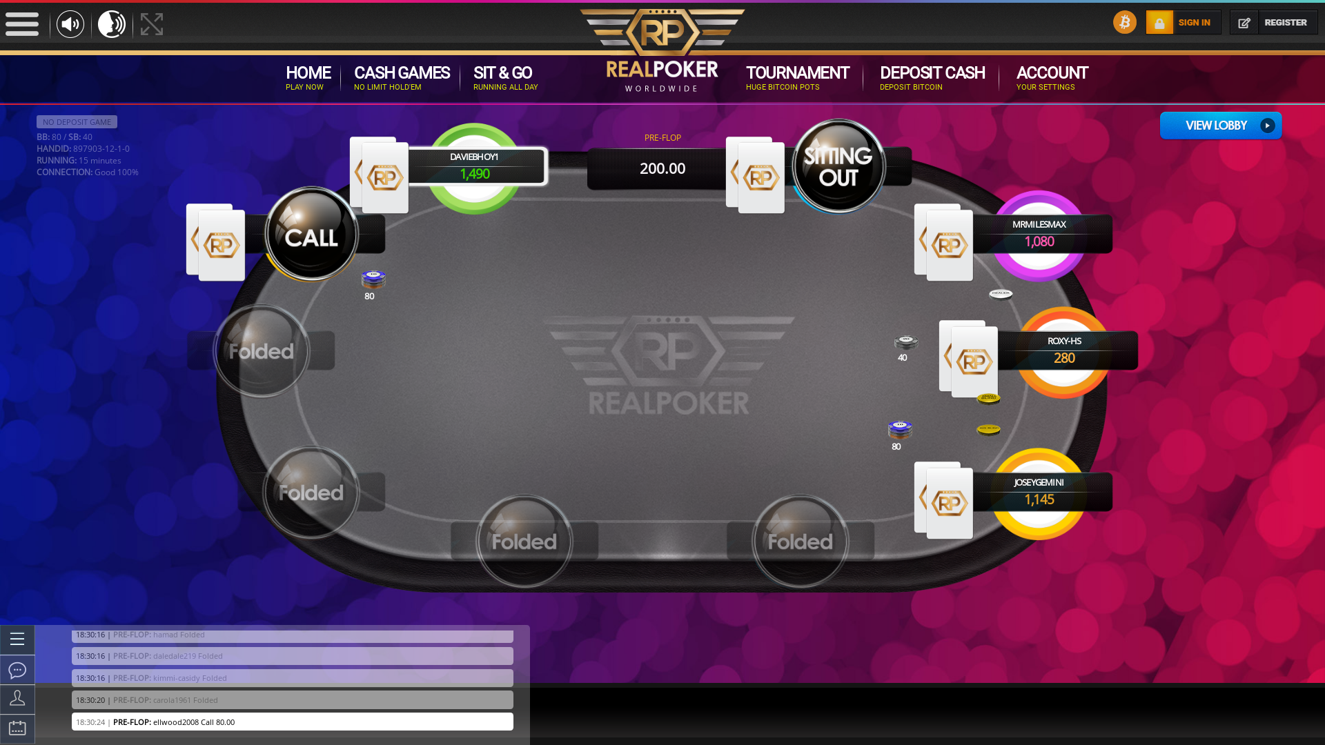 Real poker 10 player table in the 15th minute