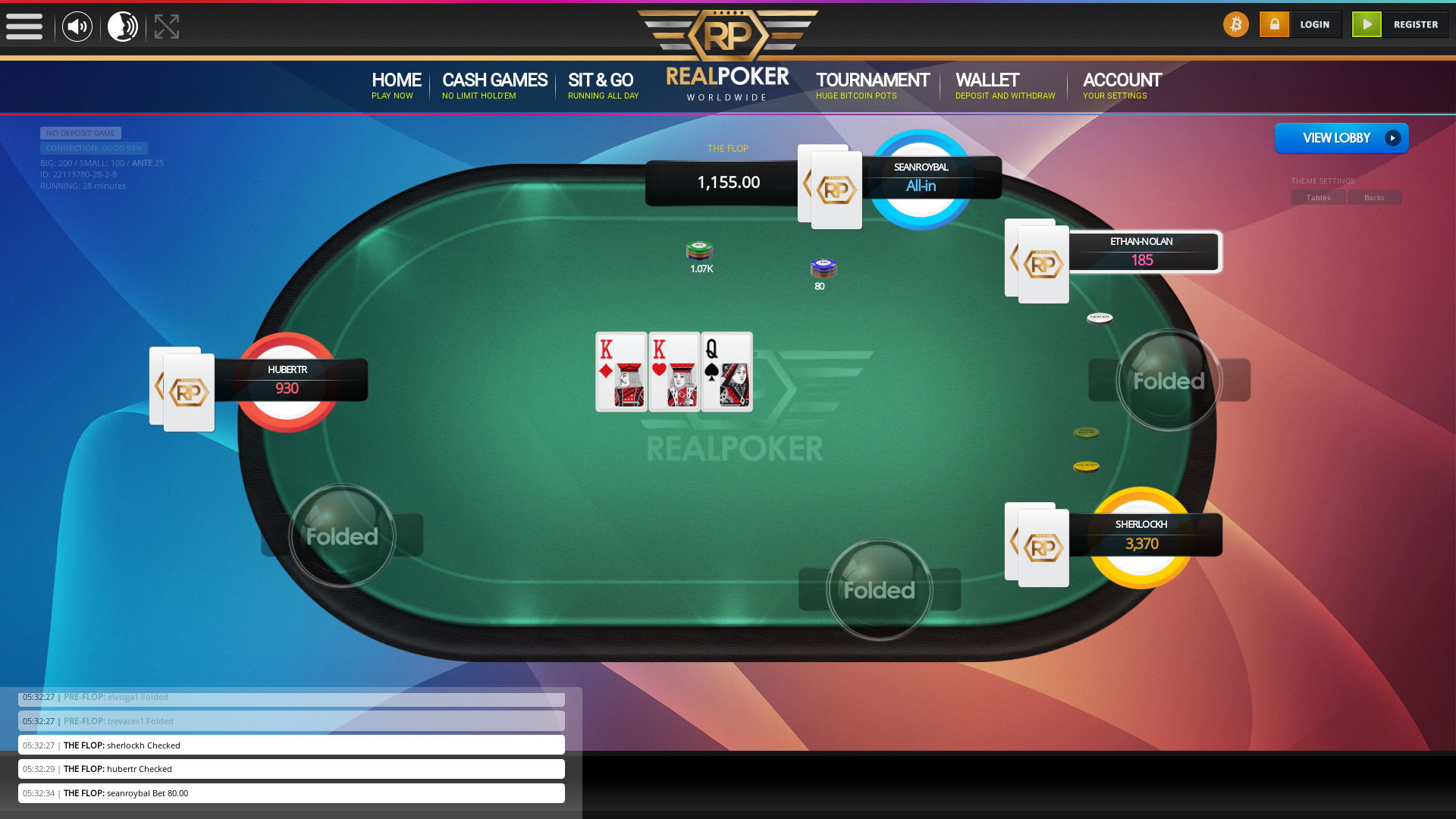 Real poker 10 player table in the 28th minute