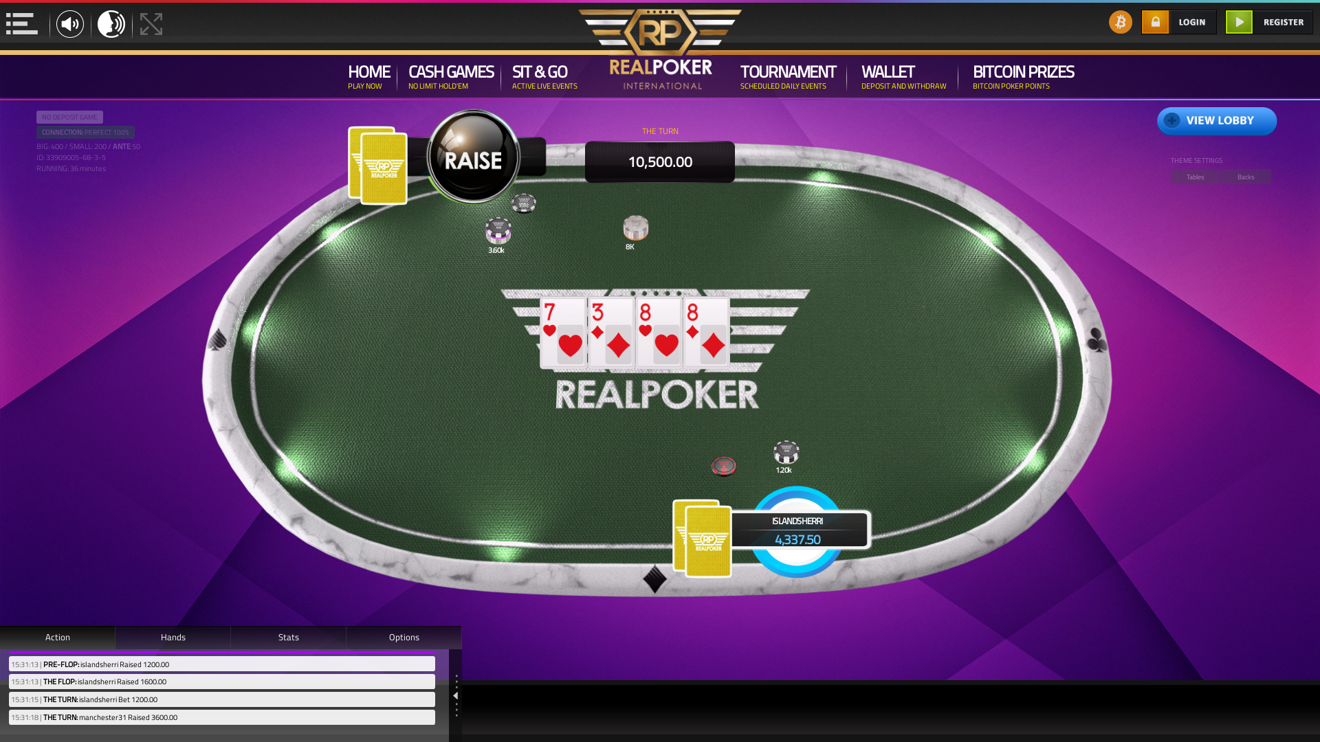 Real poker 10 player table in the 36th minute