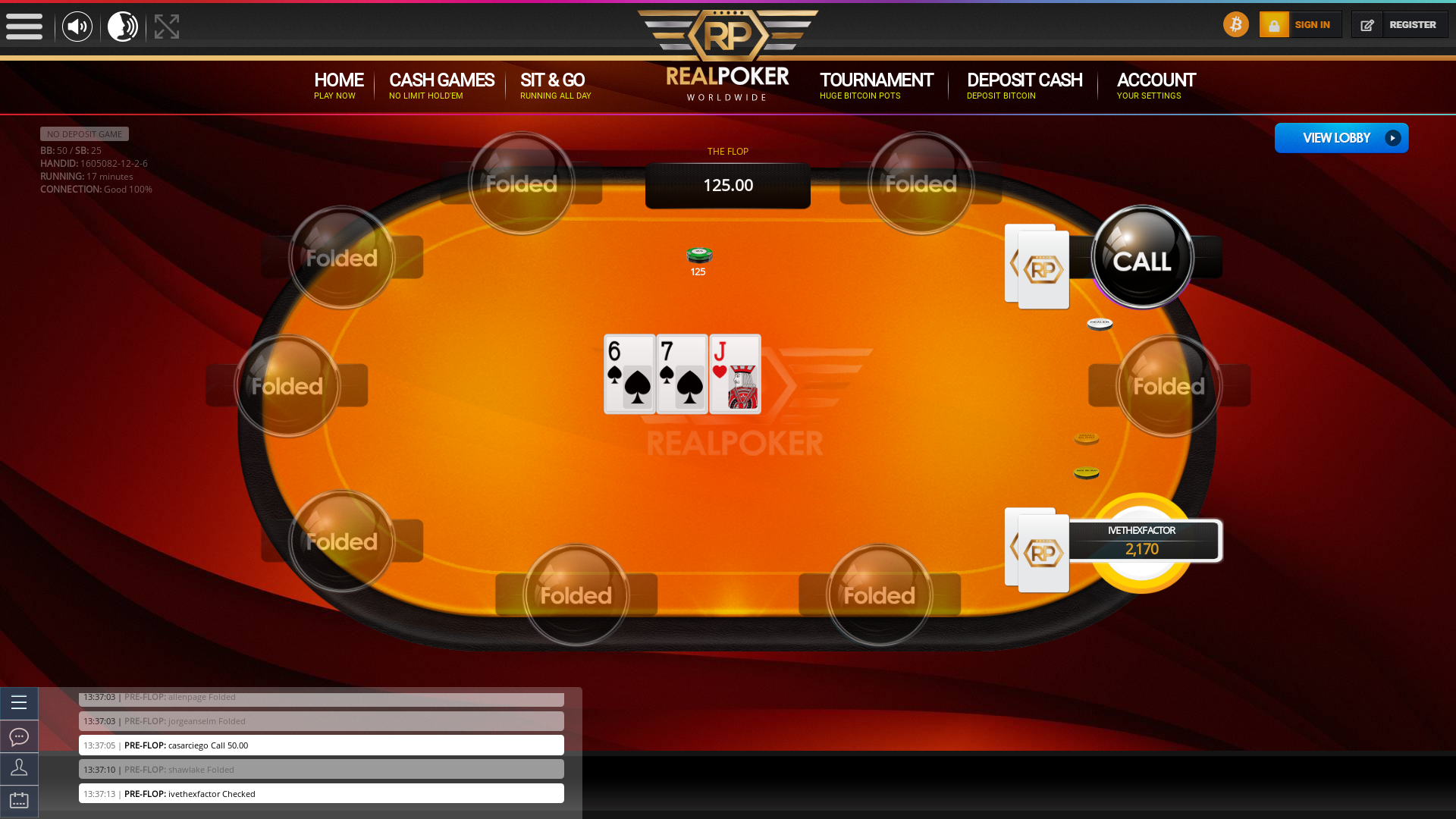 Salvador Casino Bitcoin Poker on the 30th January