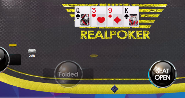 Real Poker Yellow Table